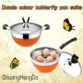ChaoZhou-Edelstahl Schmetterlinge Pot gesetzt
