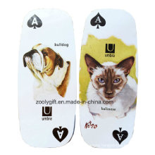 Die-Cut Oval Long Playing Card / Customized Pet Dog Promotion Gift Paper Play Card