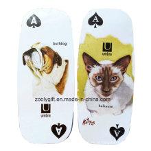 Die-Cut Oval longo cartão de jogo / personalizado Pet Dog Promoção Gift Paper Play Card