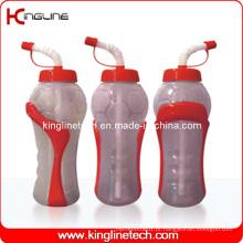 Garrafa de água de plástico, garrafa de água de plástico, garrafa de bebida de plástico de 600 ml (KL-6650)