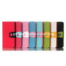 Magnetische kompakte stoßfest PU Pouch Filp Lederetui für LG G3