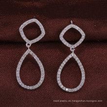 925 Sterling Silber Schmuck zwei Kreise Ohrringe Großhandel Alibaba Frauen Weihnachtsgeschenk