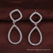 925 sterling silver jewelry two circles earrings wholesale alibaba women christmas gift