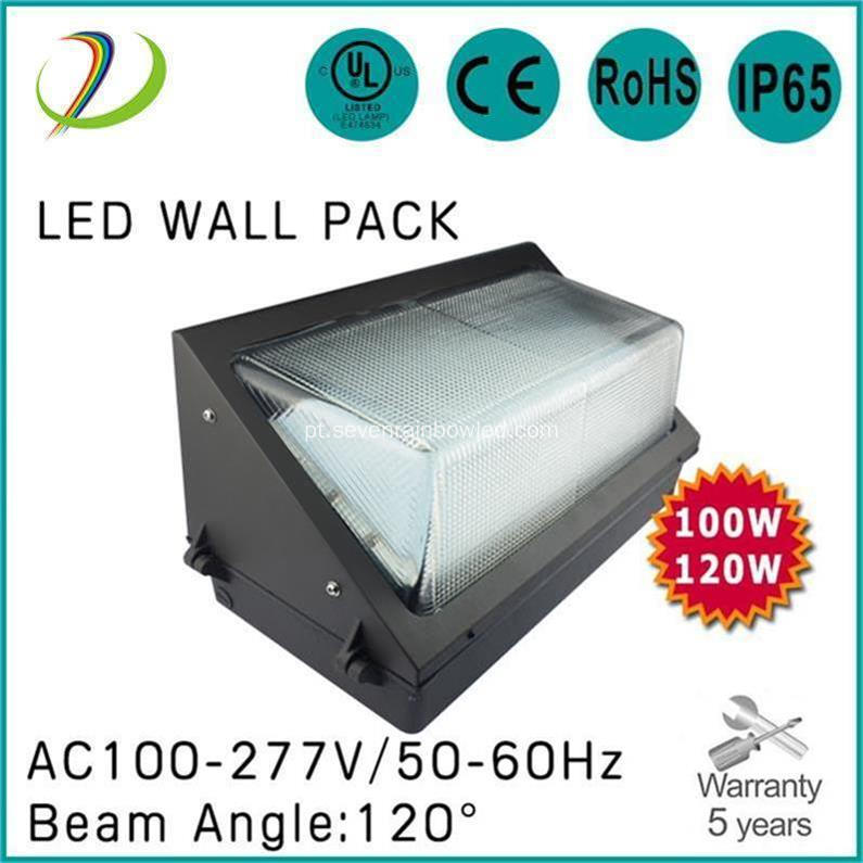 120W LED Wall Pack 5000K Color