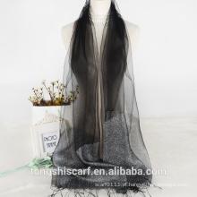 2016 novas chegadas lenço de seda crua atacado menina vestidos com padrão DO OEM