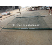 vinyl coated high security welded wire fence panel with concertina wire on top