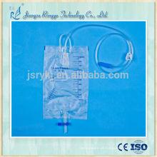 1000ml saco de urina médica descartável