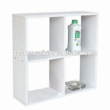 Panel Book Shelf White Wood Storage Display Cabinet