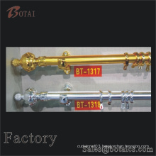 double hinged curtain rod with pvc paper coat