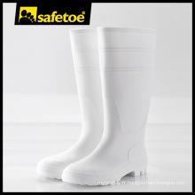 Gum boot, bottes à gomme en PVC, bottes blanches W-6036W
