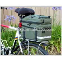Nova Bicicleta Bag Bag Pannier Ciclismo Rack Traseira Quadro Mount Saddle Bag Transportadora