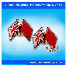 Nationalflagge Abzeichen von China und Großbritannien