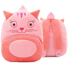 3D Animal Cartoon Plush Backpack for Kindergarten Kids