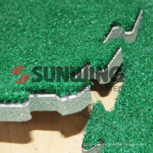 Alfombra de césped artificial entrelazada exterior alfombra