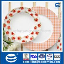 Turquía caliente vendiendo pequeñas flores decoradas platos para el servicio de alimentos