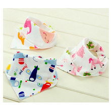 Babete infantil de algodão puro para crianças com bandagem triangular dupla face