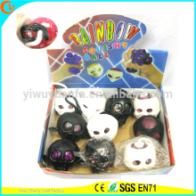 Hot Selling Novelty Light Up TPR Squeeze Skull Toy