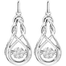Pendientes 925 joyería de plata con la joyería del diamante del baile