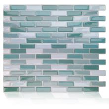 Adesivo autocolante de azulejos de vinil para parede em mosaico