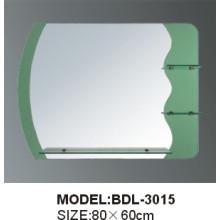 Espejo de baño de vidrio de 5 mm de espesor de plata (BDL-3015)