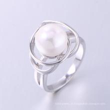 Pérola anel de noivado estilo coreano novo design pérola anel de dedo
