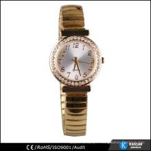 Montre diamant bezel regarde montre gold lady vogue