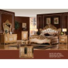 Muebles para el hogar con antigüedades rey cama armario (W810)