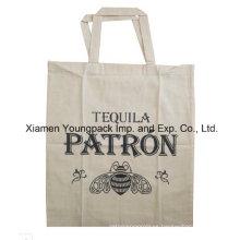 Promocional personalizado de tela de algodón lienzo Exposición Publicidad Bolsa de regalo