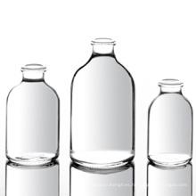 Viales de inyección moldeados transparentes para antibióticos, ISO / Sfda 20mm USP Tipo I, II, III