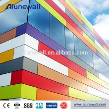 FEVE Revêtement panneau de façade décoratif en aluminium panneau composite prix