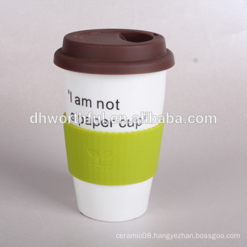 300ml CERAMIC DOUBLE WALL COFFEE CUPS, ceramic double wall travel mugs,dishwasher safe ceramic cup