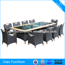 11 Pieces Table and chair set wooden dining furniture