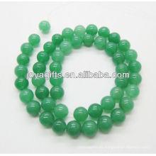 8MM Perlas de piedra verde aventurina en forma redonda