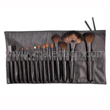 Profesional Negro mango cepillo de maquillaje cepillo cosmético con caja de cosméticos