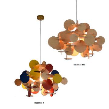 Eclairage pendentif en bois de nouveauté moderne (MD20033-560)