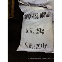 Dióxido de manganeso vidrio industria despolarizador adsorbente agente