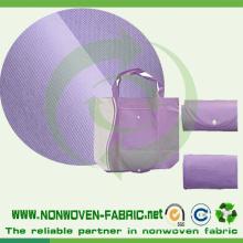 Tela não tecida reusável do material do saco de Spunbond
