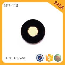 MFB115 Популярная черная металлическая печатная кнопка