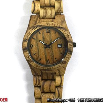 Top-Quality Zebra-Wooden Watches Date Quartz Watches Hl05
