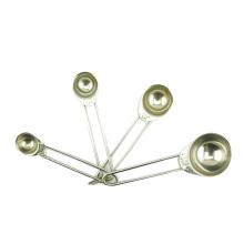 4pcs 1.25ml/2.5ml/5ml/15ml stainless steel measuring spoon