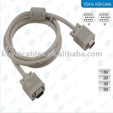 1.5M VGA Cable Male Male LCD Monitor VGA Extension Cable White