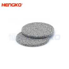 Liquid oil filtration system used stainless steel powder sintering filter disc for oil filter