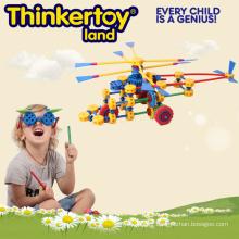 Jouet en plastique éducatif en hélicoptère DIY pour le plaisir à la maison