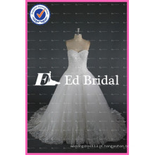 ED Bridal Beaded Lace Appliqued Sweetheart Lace-Up Ball Gown Vestidos de casamento branco China