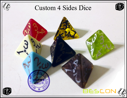 Custom 4 Sides Dice