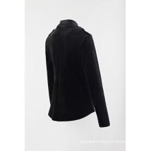 Ladies solid fleece blazer
