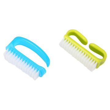 Пластиковая щетка для чистки ногтей для макияжа Стиральная Маникюр Педикюр Маленькая щетка для ногтей