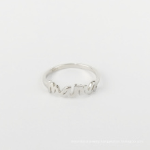 Mother's day Fashion popular letter custom ring mama925 sterling silver wholesale ring