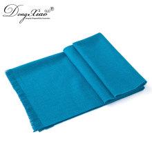 Écharpe bleue de tête de laine de Pashmina Turban de cou d'imitation de mode pour la femme musulmane