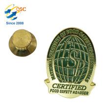 Broche de revers de badge personnalisé en métal de vente directe bon marché souvenir